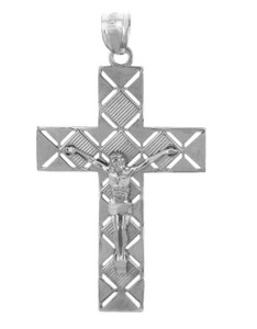 White Gold Crucifix Pendant - The Power Crucifix