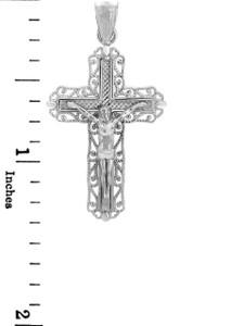 White Gold Crucifix Pendant - The Ever After Crucifix