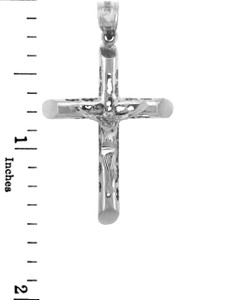 White Gold Crucifix Pendant - The Endless Crucifix