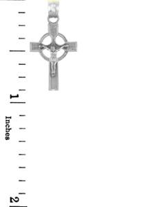 White Gold Crucifix Pendant - The Infinity Crucifix