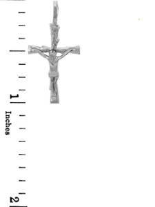 Crucifix Pendant White Gold