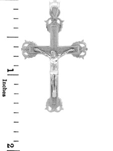 Sterling Silver Crucifix Pendant Necklace- The Blessed Crucifix