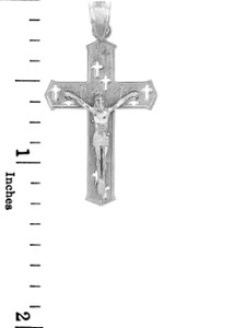 Sterling Silver Crucifix Pendant Necklace- The Crosses Crucifix