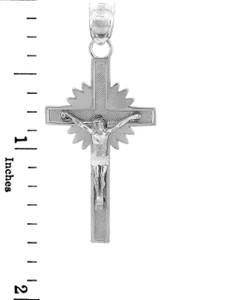 Sterling Silver Crucifix Pendant - The Star Crucifix