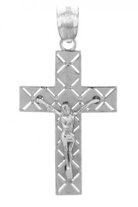 Sterling Silver Crucifix Pendant Necklace- The Light Crucifix