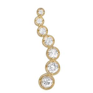Yellow Gold Diamond Journey Pendant