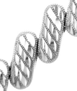 White Gold Bracelet - The Diagonal Bracelet