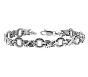 White Gold Bracelet - XOXO Bracelet