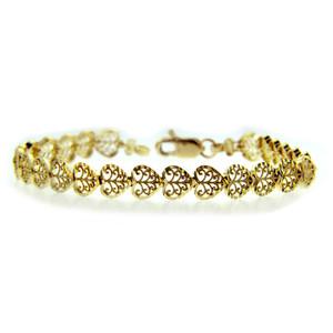 Yellow Gold Bracelet - The Heart Bracelet