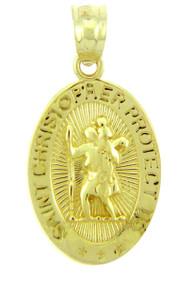 "Saint Christopher ""Protect Us"" Religious Charm"