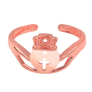Rose Gold Claddagh Toe Ring