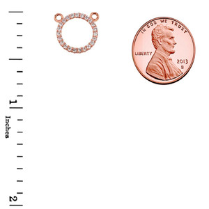 """14k Rose Gold """"Circle of Love"""" Necklace"""