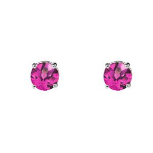 10K White Gold June Birthstone Alexandrite (LCE) Earrings