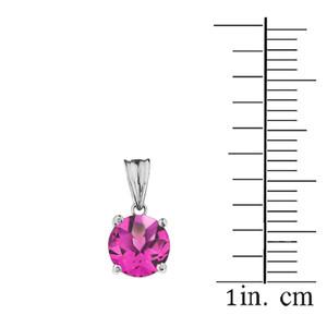 10K White Gold June Birthstone Alexandrite (LCAL)  Pendant Necklace