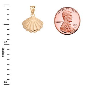 Cockle Sea Shell in Yellow Gold