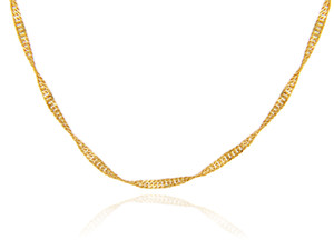 Gold Chains: Singapore Gold Chain 0.2mm