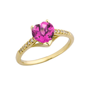 Alexandrite (LCAL) & Diamond Engagement and Proposal Ring in Yellow Gold