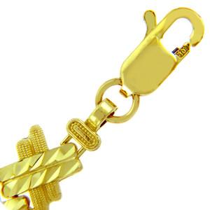 Yellow Gold Bracelet - The Baguette Bracelet