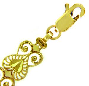Yellow Gold Bracelet - The Fancy Heart Bracelet
