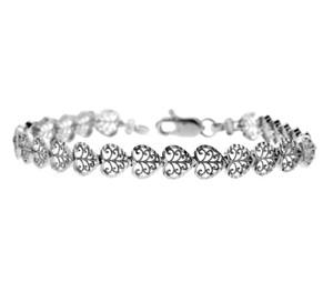 White Gold Bracelet - The Heart Bracelet