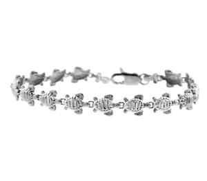 White Gold Bracelet - The Turtle Bracelet