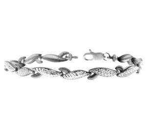 White Gold Bracelet - The Lobster Claw Bracelet