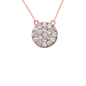 14K Mini Disc Necklace in Rose Gold