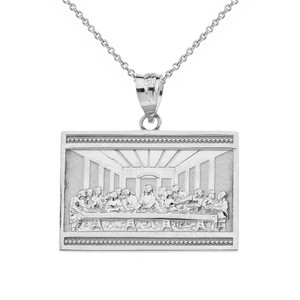 Last Supper  Pendant Necklace  in Gold (Yellow/Rose/White)