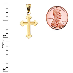 Dainty Greek Orthodox Cross in Yellow Gold