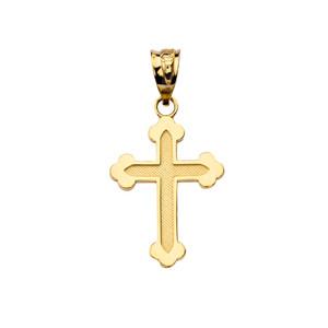 Dainty Greek Orthodox Cross in Yellow Gold