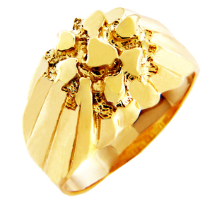 Solid Gold King Nugget Ring