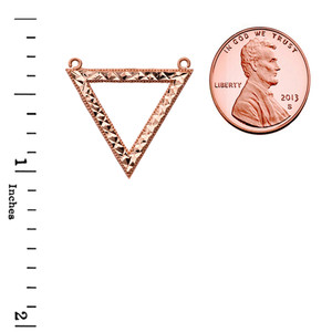Chic Open Triangle Necklace in 14K Rose Gold