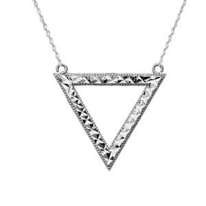 Chic Open Triangle Necklace in Sterling Silver
