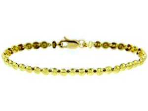 Yellow Gold Bracelet - The Classic Pearl Link Bracelet