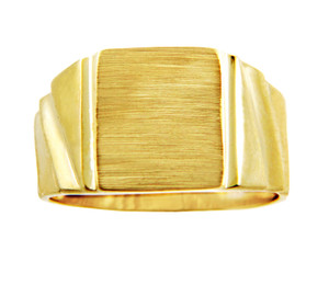 Men's Gold Signet Rings - The Unforgettable Solid Gold Signet Ring