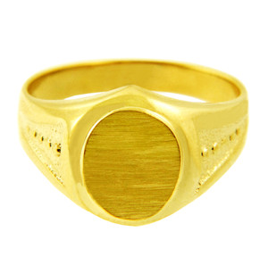 Men's Gold Signet Rings - The Apollo Solid Gold Signet Ring