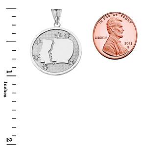Designer Diamond Gemini Constellation Pendant Necklace in White Gold