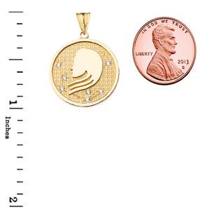 Designer Diamond Virgo Constellation Pendant Necklace in Yellow Gold