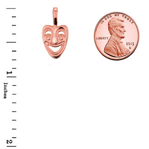 Rose Gold Comedy Mask Pendant Necklace