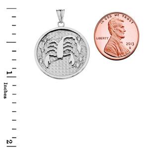 Designer Diamond Scorpio Constellation Pendant Necklace in White Gold