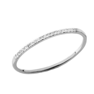 Dainty Diamond Band Ring in White Gold