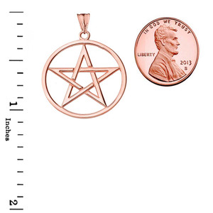 Pentagram Pendant Necklace in Rose Gold