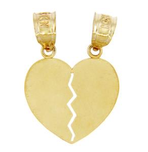 Gold Pendants - Gold Breakable Heart Pendant
