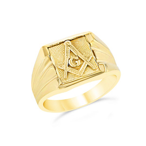 Yellow Gold Masonic Ring