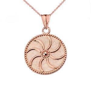 "Armenian Eternity (0.94"") Pendant Necklace in Rose Gold"