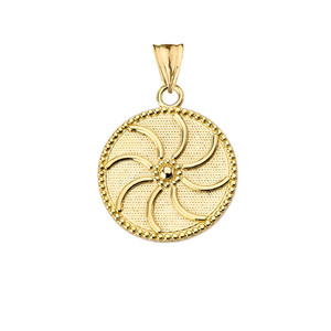 """Armenian Eternity (0.80"""") Pendant Necklace in Yellow Gold"""