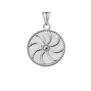 "Armenian Eternity (0.80"") Pendant Necklace in Sterling Silver"