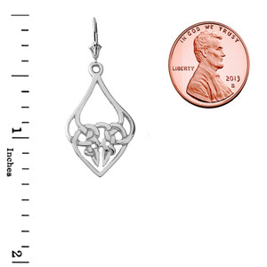Designer Celtic Knot Statement Pendant Necklace in Sterling Silver
