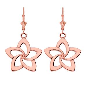 14K Flower Earrings in Rose Gold