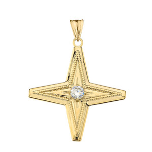 Star of Bethlehem Pendant Necklace in Yellow Gold